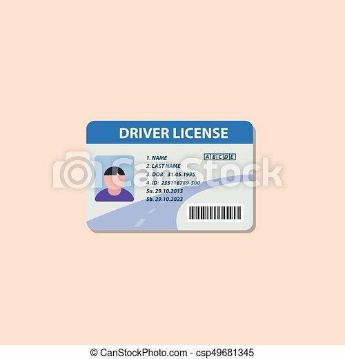 Driving license flat icon - csp49681345