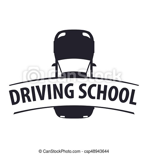 driving school logo and emblem template auto education