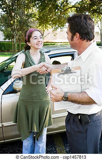 Driving Test Handshake - csp1457813