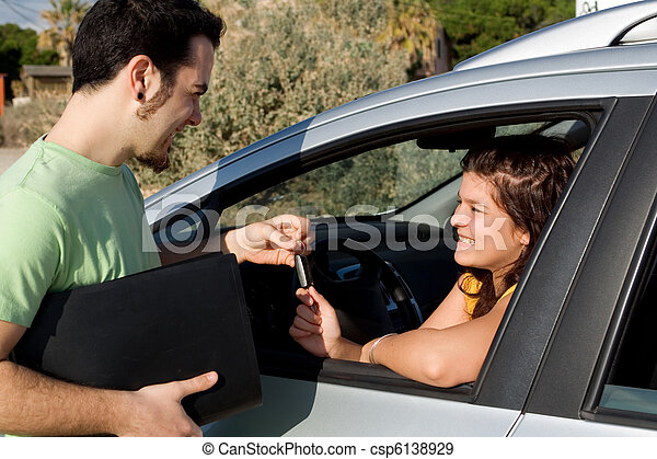 driving test or car hire or new vehicle sale - csp6138929