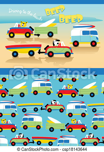 Driving to the beach. - csp18143644