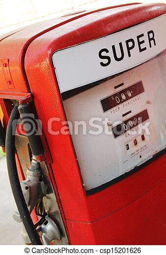 drivmedel, årgång, pump, röd - csp15201626