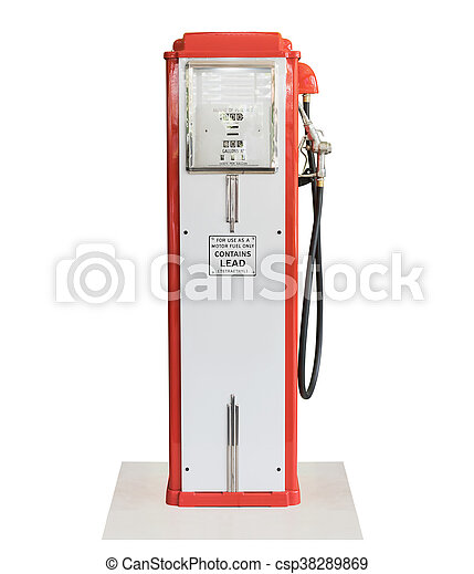 drivmedel, årgång, pump, vit fond - csp38289869