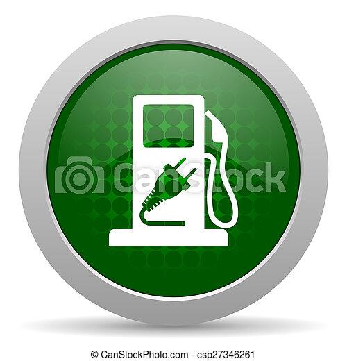 drivmedel, ikon, hybrid, underteckna - csp27346261