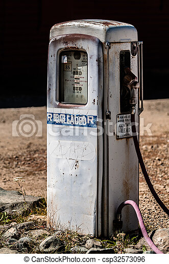 drivmedel pumpa, gammal - csp32573096