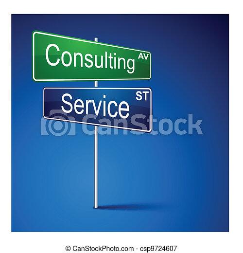 droga, służba, kierunek, poznaczcie., ordynacyjny - csp9724607