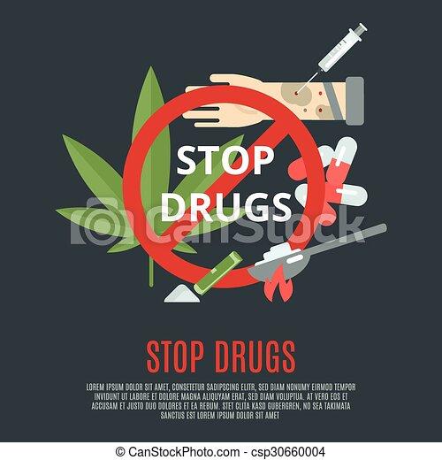 Deja el concepto de drogas - csp30660004