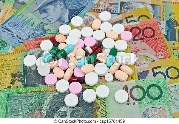 Drogas en el fondo del dinero - csp15781459