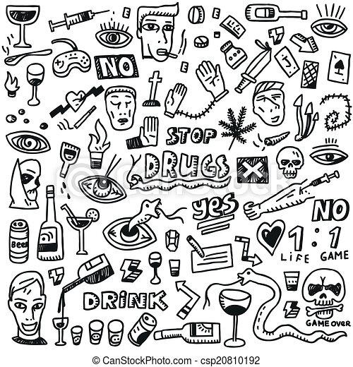 Drogas, garabatos - csp20810192