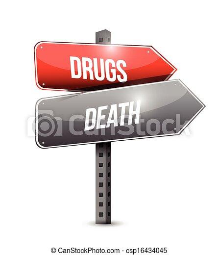 Drogas y diseño de ilustración de muerte - csp16434045