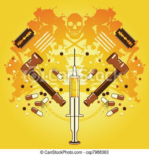Muerte y drogas - csp7988363