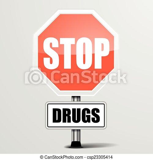 Para las drogas - csp23305414