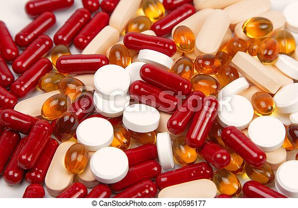 Fondo de drogas - csp0595177