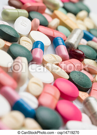 Variedad de drogas recetadas coloridas - csp14719270