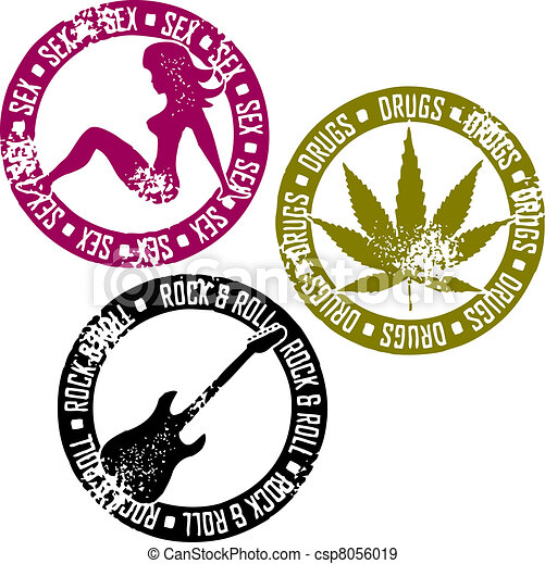 Sex Drugs  ⁇  rock and roll - csp8056019