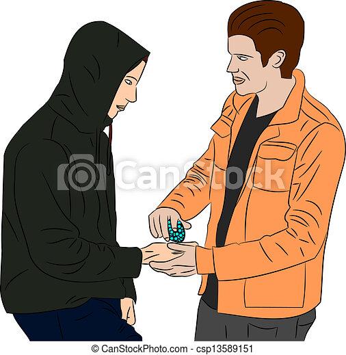 droge, karten geben - csp13589151