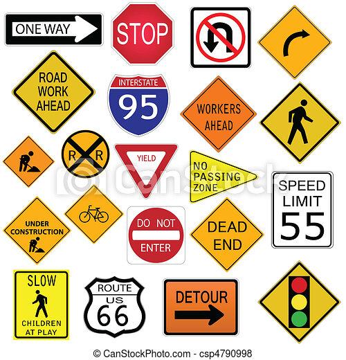 drogowe oznakowanie - csp4790998