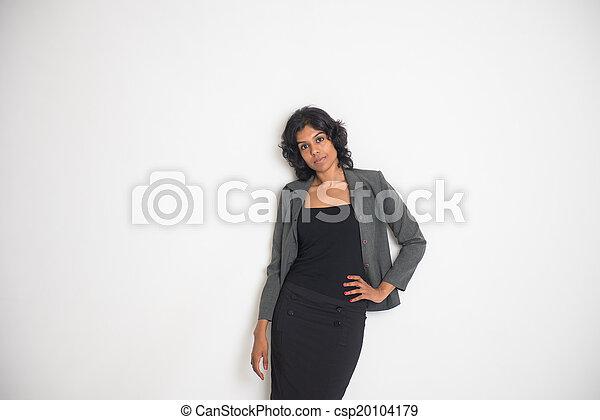 droit, business, copyspace, femme, indien, lot - csp20104179