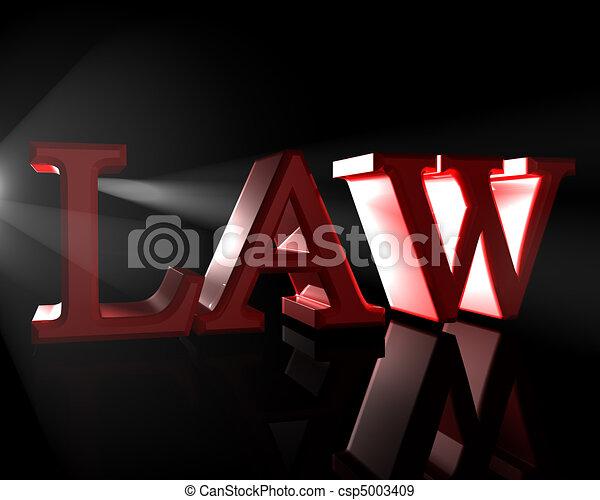 droit & loi - csp5003409