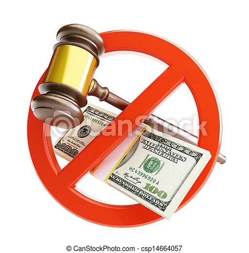 droit & loi, dollar, non - csp14664057