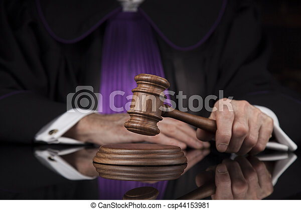 droit & loi, justice, concept., salle audience, juge, mâle - csp44153981