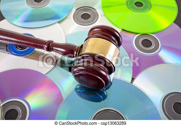 droit & loi, musique, copie, droit, concept - csp13063289