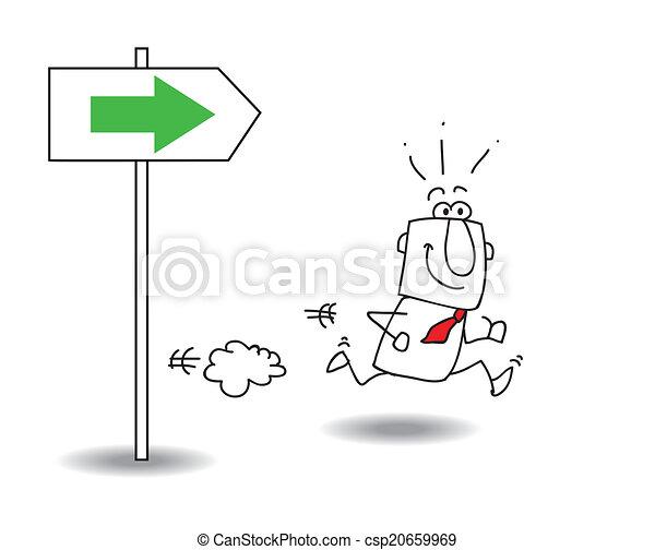 droite direction - csp20659969
