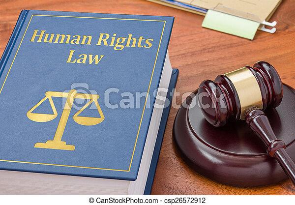 droits, -, livre, humain, marteau, droit & loi - csp26572912