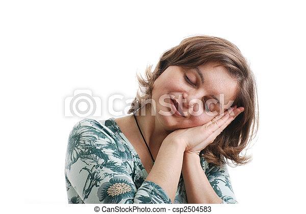 dromen, vrouw, -, vrijstaand, jonge - csp2504583