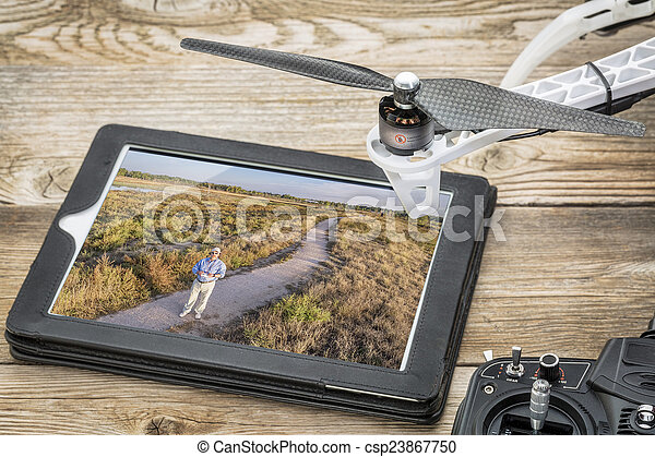 drone aerial photography concept - csp23867750