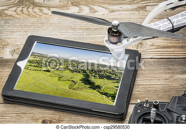 drone aerial photography concept - csp29580530