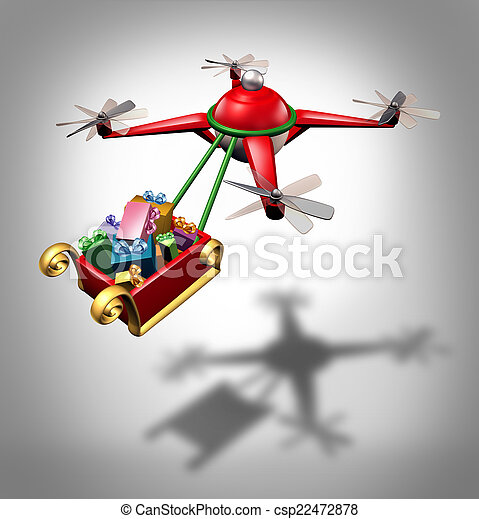 Drone Holiday Delivery - csp22472878