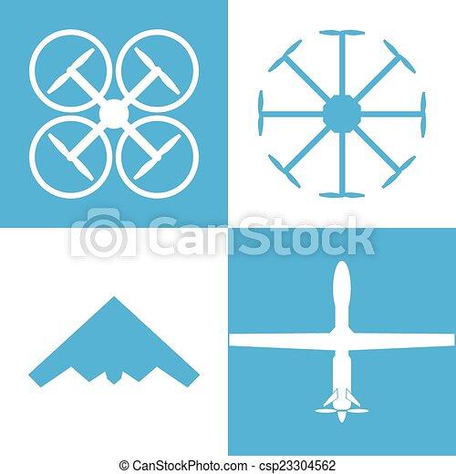 drone icon set - csp23304562