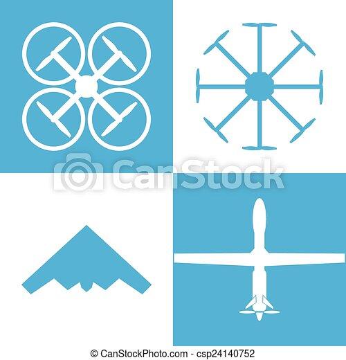 drone icon set - csp24140752