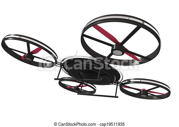 Drone Illustration 3D Isolated  - csp19511935