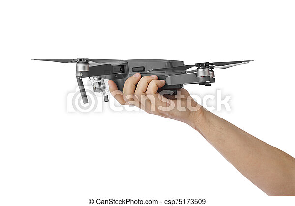Drone in hand - csp75173509
