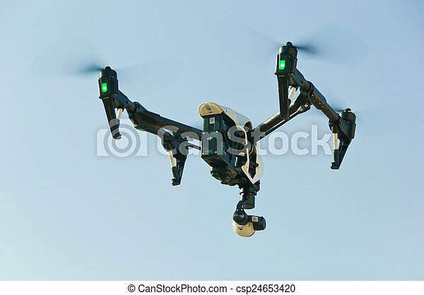 Drone in sky - csp24653420