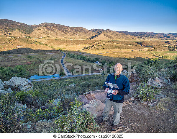 drone operator at foothills - csp30120825