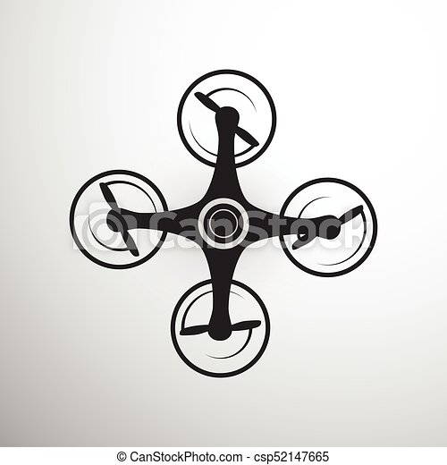 Drone Or Quadcopter Icon Isolated On Grey Background Air Drone Icon