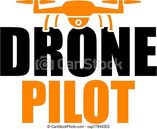 Drone Pilot Icon in orange - csp77844353
