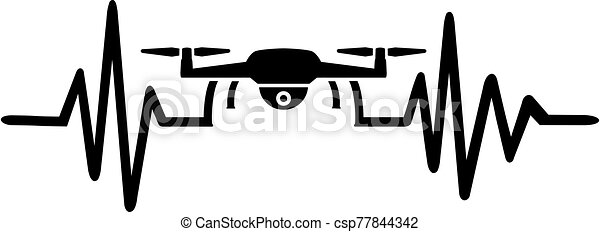 Drone Pilot pulse with icon - csp77844342