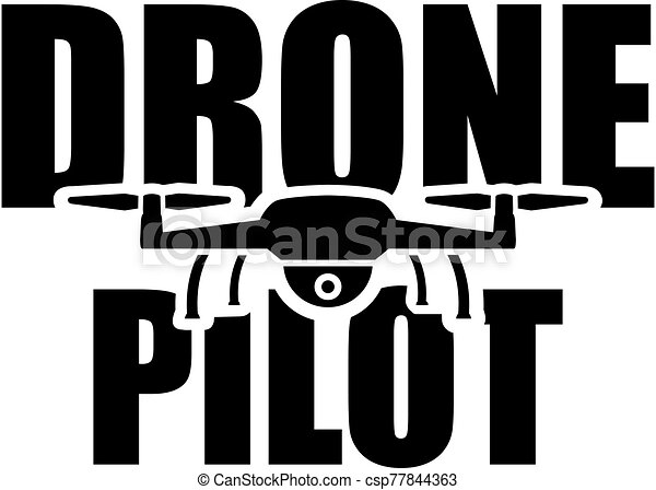Drone Pilot with flying drone - csp77844363