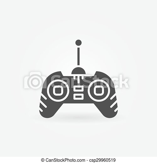 Drone Remote Control Icon Vector