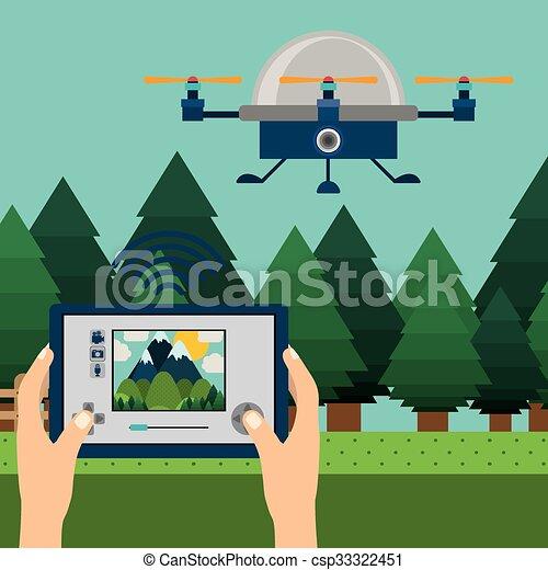drone technology design  - csp33322451