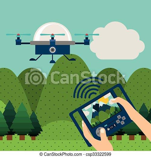 drone technology design  - csp33322599