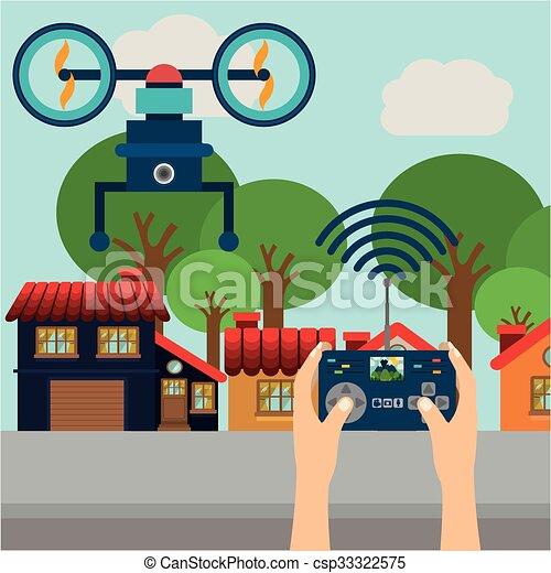 drone technology design  - csp33322575