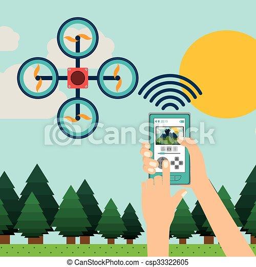 drone technology design  - csp33322605