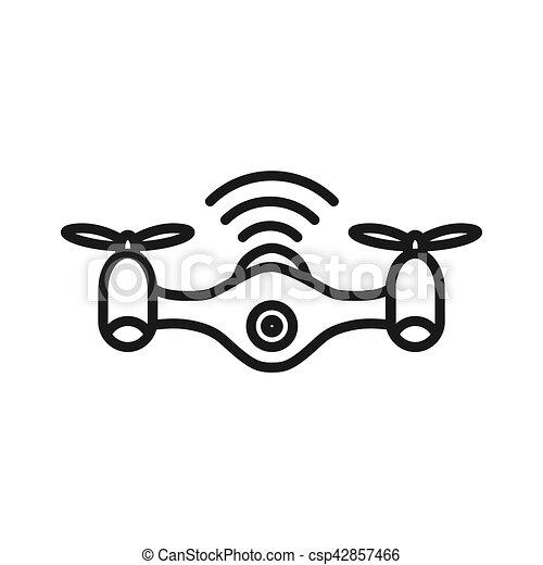 drone technology illustration design - csp42857466