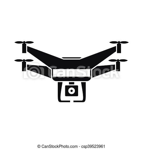 Drone Video Camera Icon Simple Style