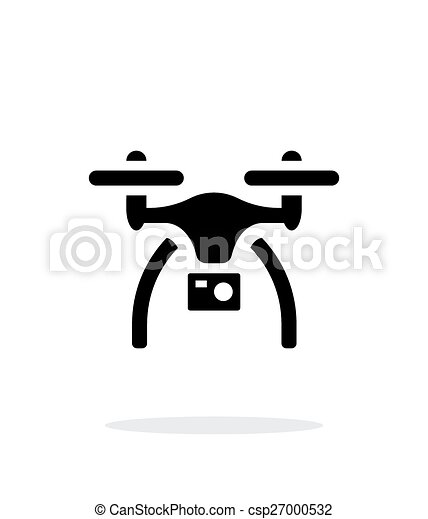 Drone With Camera Simple Icon On White Background Vector